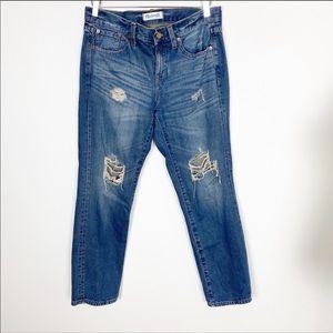 Madewell boyjean distressed jeans